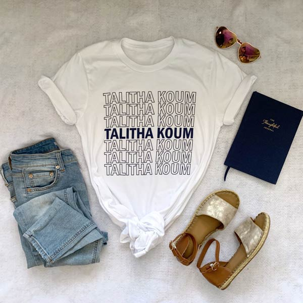 Cotton-polyester White Crewneck T-Shirt