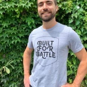 light grey crewneck t-shirt