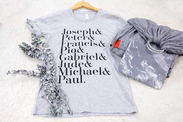 Catholic saints t-shirt