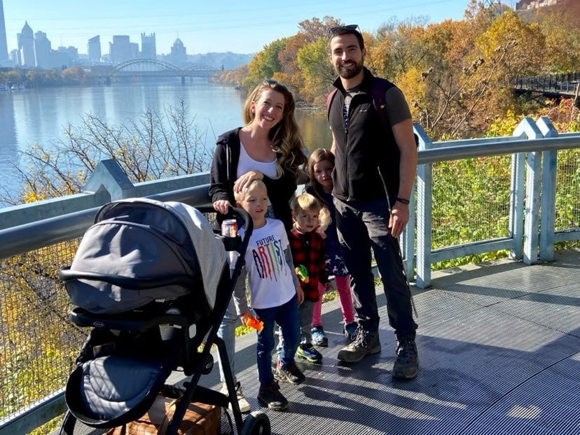Brick House in the City Founder Lauren Winter and family