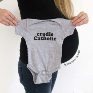 infant and toddler grey onesie