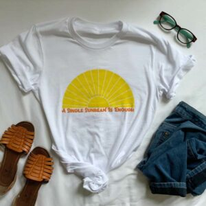 Retro White Crewneck T-Shirt